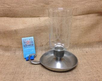 Preisner Pewter Vintage Hurricane Lamp