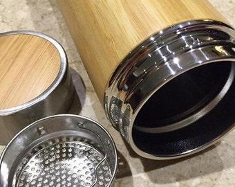 Bamboo Thermal Tea Flask Infuser