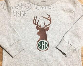 Deer Monogram Shirt or Onesie