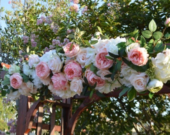 Wedding Arch, Coral Arch, Wedding Arch flowers, Arbor Flowers, Silk Arbor Flowers, Wedding Arbor Flowers, Arch Ceremony Flowers
