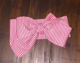 Candy Cane Striped Head Wrap
