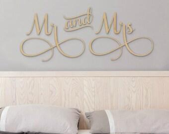 Mr mrs wall decor