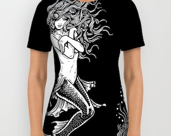 Mermaid  Tee Shirt All Over Print