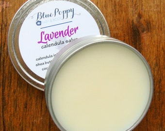 Lavender Salve Lavender Balm Calendula Calendula Balm Natural Herbal Salve Skin Salve for Cuts Rashes Calming Lavender