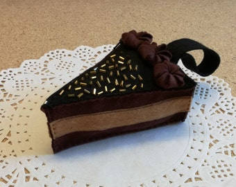 felt purse, felt cake