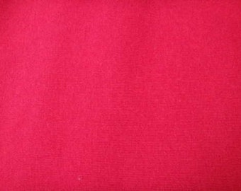 Red Cotton Spandex Jersey Knit 12 oz Fabric by the Yard #6