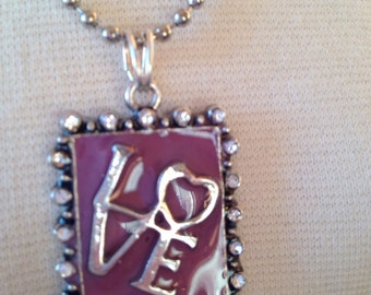 LOVE resin necklace