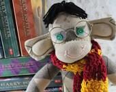 Sock Monkey / Argyle / Harry Potter Inspired / Gryffindor Scarf / Harry Potter Nursery / Harry Potter Baby / Harry Potter Gift / Unique Gift