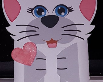 Cat Valentine Gift Card Holder-Cat-Gift Card Holder-Valentine Gift Card Holder-Gift Card Holder