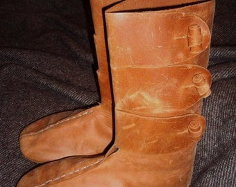 Ready for Shipping! Hedeby Boots, Medieval Leather Shoes, Anglo-Saxon, Viking, Medieval Shoes Reconstruction, SCA Boots Replica, Natural Lea