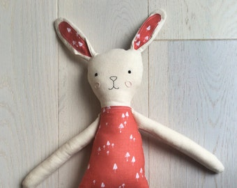 May and Juniper Handmade Bunny Rabbit Cloth Toy - Made to order