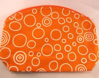 Louisburg Arc Project Bag, Orange Circles print