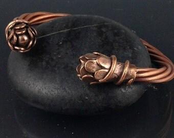 Flowering Vine Copper Bracelet
