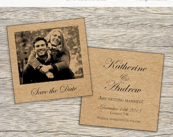 Save the Date Wedding Card (50x)
