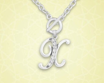 X Initial Toggle Necklace - 54408
