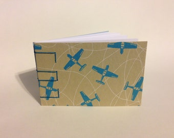 Airplane Pattern Blank Notepad