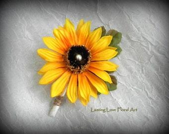 Sunflower Boutonniere, Sunflowers, Sunflower Wedding Flowers, Rustic Boutonniere, Boutonniere, Grooms Boutonniere, Fall Flowers