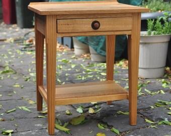 Traditional Tasmanian Oak Bedside Table Timber Handmade