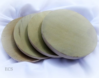 Reclaimed Poplar Rustic Wooden Discs - Set of Six  - Great for Wedding Decoration. This poplar wood is over 100 years old.
