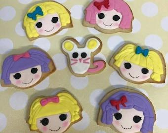 Lalaloopsy sugar cookies