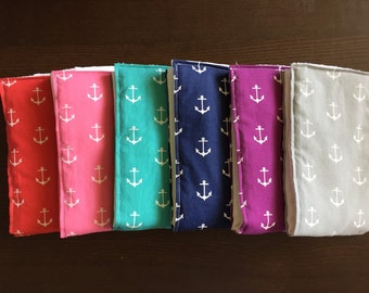 Anchor cloth diaper burp cloths