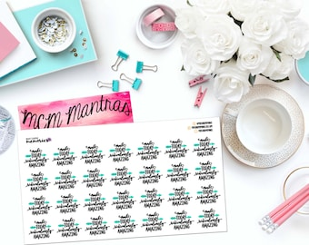 """MCM MANTRAS: """"Make Today Ridiculously Amazing"""" Paper Planner Stickers!"""