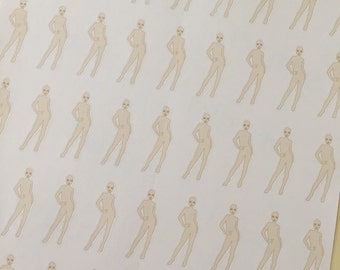 PAIN TRACKING BODY Paper Planner Stickers!