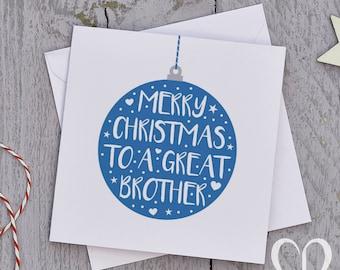 Brother Christmas Card – Bauble, Bro Christmas Card, Brother Christmas Cards, Bro Christmas Cards, Brother Xmas Card, Brother Xmas Cards