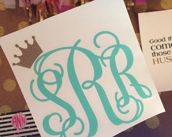 Tilted Crown Monogram