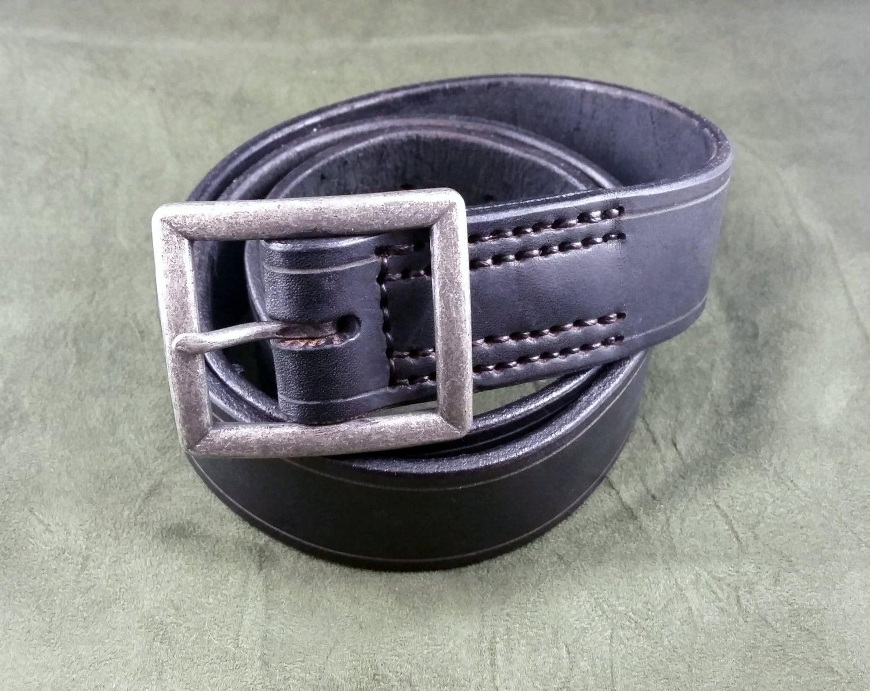 heavy duty leather belt by grommetsleathercraft on etsy