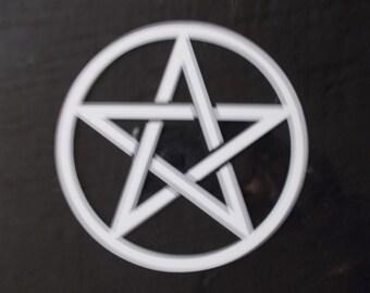 Custom  Vinyl Pentagram Decal for Cars,Computer, Phone (Baphomet,Satan,Satanic)
