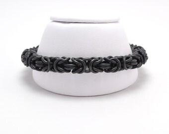 Byzantine Bracelet in Black Niobium