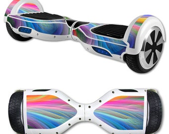 Skin Decal Wrap for Self Balancing Scooter Hoverboard unicycle Rainbow Waves