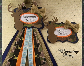 Hunting Mommy To Be And Daddy To Be Badge Camo Daddy To Be Badge Camo Mommy