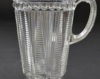 Timeless Vintage Art Deco Style Glass Pitcher