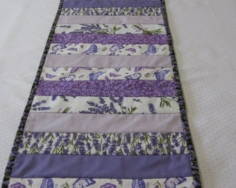 Quilted Table runner, Table runner, Lavender, Purple Table Runner, Lavender Table Runner, Cotton Table Runner, Butterfly Table Runner