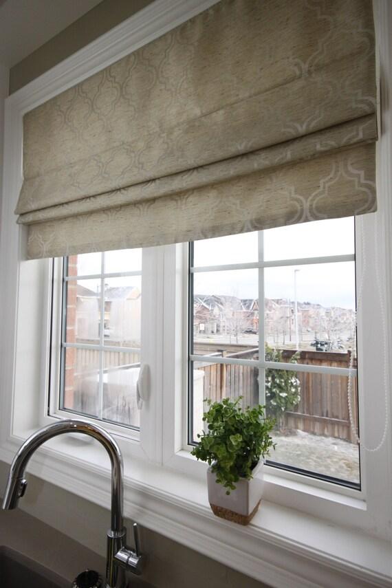 Flat Roman Shades For Windows : Flat roman shade selena celery with chain