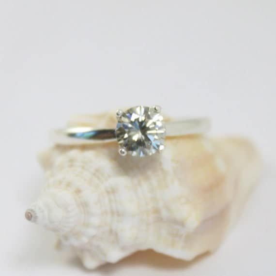 SALE Moissanite Ring Moissanite Engagement Ring Solitaire