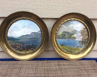 English foil art wall plates