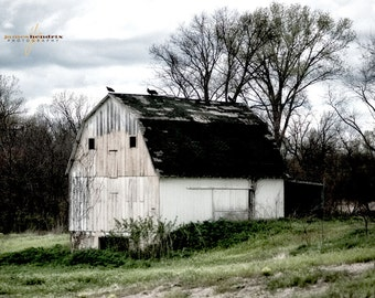 Rural America, Barn Photography, Farmhouse Decor, Rustic Wall Art, Country Landscape Print, NW Missouri