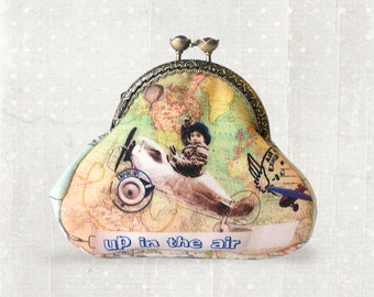 Fly - coin purse - metal frame - wallet - vintage style
