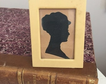 FREE SHIPPING - Vintage Celluloid Framed Silhouette