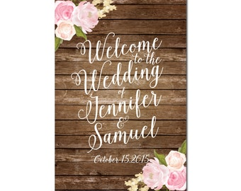 Large Wedding Sign Printable, Rustic Wedding, Floral Wedding, Welcome Wedding Sign, Floral Sign, Vintage Wedding Sign, Reception Sign #CL107