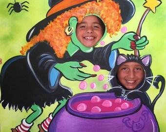 Halloween Party- Halloween Photo Prop- Halloween Photo Booth- Halloween Decorations- Halloween Witch- Witch Party- Halloween Birthday- Fall