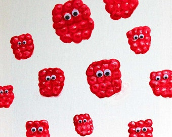 Raspberries Greetings card