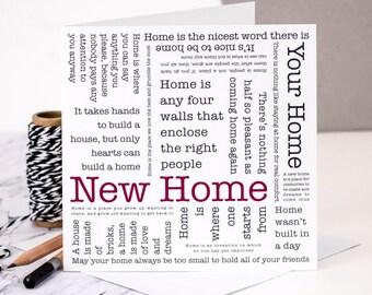 New Home Card; Housewarming Card; GC122