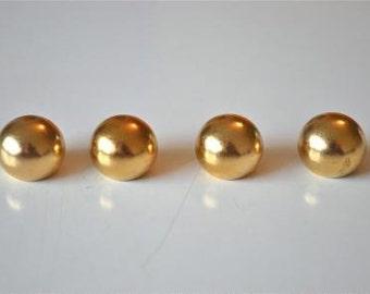 A set of 4 brass antique style ball finials 16mm RR3
