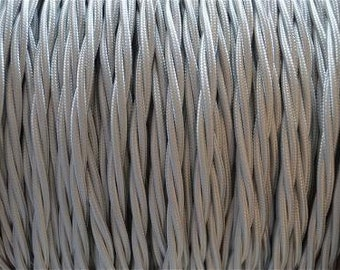 1 meter silver silk covered 3 core light flex B9