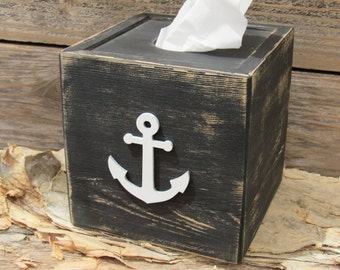 Wedding gift initial letter blocks sign handmade by signshack - Beach themed tissue box cover ...