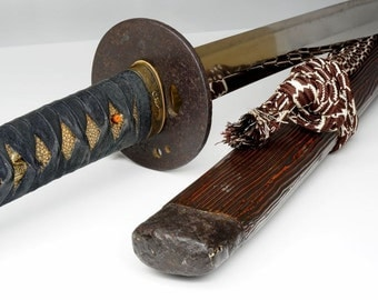 Superb Blade & Scabbard! Authentic Japanese Samurai Katana Sword Made by NOBUMITSU 信光